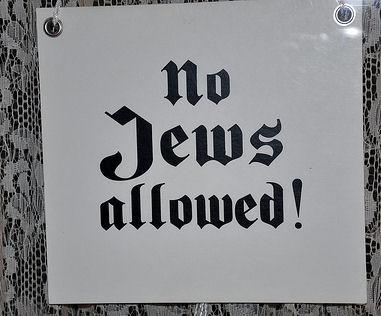 No Jews Allowed
