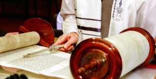Torah Open with Pointer